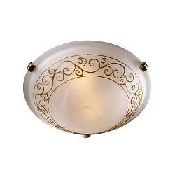 Накладной светильник SonexКруглые<br>Артикул - SN_331,Бренд - Sonex (Россия),Коллекция - Barocco Oro,Гарантия, месяцы - 24,Время изготовления, дней - 1,Диаметр, мм - 500,Тип лампы - компактная люминесцентная [КЛЛ] ИЛИнакаливания ИЛИсветодиодная [LED],Общее кол-во ламп - 3,Напряжение питания лампы, В - 220,Максимальная мощность лампы, Вт - 100,Лампы в комплекте - отсутствуют,Цвет плафонов и подвесок - белый с золотым орнаментом,Тип поверхности плафонов - матовый,Материал плафонов и подвесок - стекло,Цвет арматуры - золото,Тип поверхности арматуры - глянцевый,Материал арматуры - металл,Возможность подлючения диммера - можно, если установить лампу накаливания,Тип цоколя лампы - E27,Класс электробезопасности - I,Общая мощность, Вт - 300,Степень пылевлагозащиты, IP - 20,Диапазон рабочих температур - комнатная температура<br>