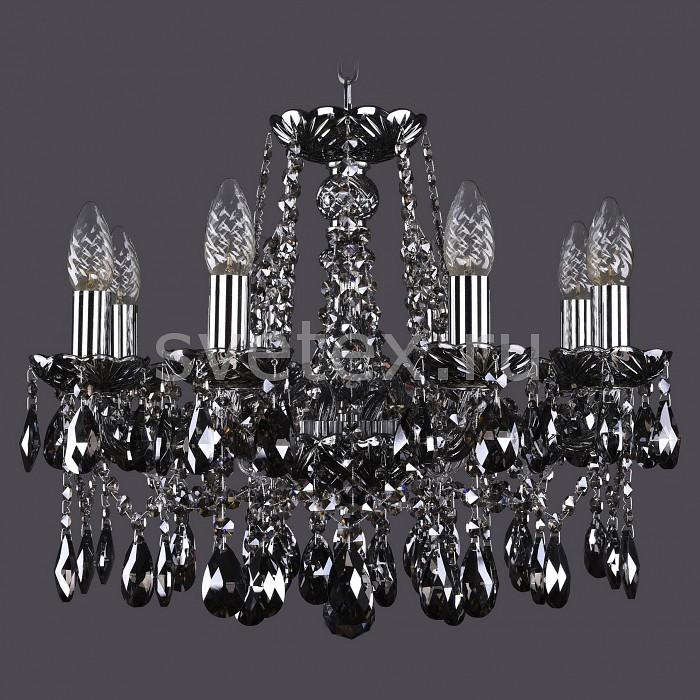 Подвесная люстра Bohemia Ivele CrystalБолее 6 ламп<br>Артикул - BI_1413_8_165_NI_M781,Бренд - Bohemia Ivele Crystal (Чехия),Коллекция - 1413,Гарантия, месяцы - 24,Высота, мм - 400,Диаметр, мм - 510,Размер упаковки, мм - 450x450x200,Тип лампы - компактная люминесцентная [КЛЛ] ИЛИнакаливания ИЛИсветодиодная [LED],Общее кол-во ламп - 8,Напряжение питания лампы, В - 220,Максимальная мощность лампы, Вт - 40,Лампы в комплекте - отсутствуют,Цвет плафонов и подвесок - дымчатый черный,Тип поверхности плафонов - прозрачный,Материал плафонов и подвесок - хрусталь,Цвет арматуры - дымчатый черный, никель,Тип поверхности арматуры - глянцевый, прозрачный, рельефный,Материал арматуры - металл, стекло,Возможность подлючения диммера - можно, если установить лампу накаливания,Форма и тип колбы - свеча ИЛИ свеча на ветру,Тип цоколя лампы - E14,Класс электробезопасности - I,Общая мощность, Вт - 320,Степень пылевлагозащиты, IP - 20,Диапазон рабочих температур - комнатная температура,Дополнительные параметры - способ крепления светильника к потолку - на крюке, указана высота светильника без подвеса<br>