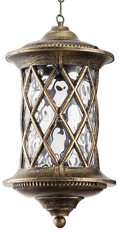 Подвесной светильник FeronСветильники<br>Артикул - FE_11514,Бренд - Feron (Китай),Коллекция - Тироль,Гарантия, месяцы - 24,Высота, мм - 450-950,Диаметр, мм - 240,Тип лампы - компактная люминесцентная [КЛЛ] ИЛИнакаливания ИЛИсветодиодная [LED],Общее кол-во ламп - 1,Напряжение питания лампы, В - 220,Максимальная мощность лампы, Вт - 100,Лампы в комплекте - отсутствуют,Цвет плафонов и подвесок - неокрашенный,Тип поверхности плафонов - прозрачный,Материал плафонов и подвесок - стекло,Цвет арматуры - золото черненое,Тип поверхности арматуры - матовый,Материал арматуры - силумин,Количество плафонов - 1,Тип цоколя лампы - E27,Класс электробезопасности - I,Степень пылевлагозащиты, IP - 44,Диапазон рабочих температур - от -40^C до +40^C,Дополнительные параметры - способ крепления светильника к потолку - на крюке, регулируется по высоте<br>