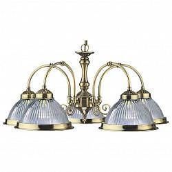 Подвесная люстра Arte Lamp5 или 6 ламп<br>Артикул - AR_A9366LM-5AB,Бренд - Arte Lamp (Италия),Коллекция - American Diner,Гарантия, месяцы - 24,Высота, мм - 280,Диаметр, мм - 620,Тип лампы - компактная люминесцентная [КЛЛ] ИЛИнакаливания ИЛИсветодиодная [LED],Общее кол-во ламп - 5,Напряжение питания лампы, В - 220,Максимальная мощность лампы, Вт - 60,Лампы в комплекте - отсутствуют,Цвет плафонов и подвесок - неокрашенный,Тип поверхности плафонов - рельефный, прозрачный,Материал плафонов и подвесок - стекло,Цвет арматуры - бронза античная,Тип поверхности арматуры - глянцевый,Материал арматуры - металл,Возможность подлючения диммера - можно, если установить лампу накаливания,Тип цоколя лампы - E27,Класс электробезопасности - I,Общая мощность, Вт - 300,Степень пылевлагозащиты, IP - 20,Диапазон рабочих температур - комнатная температура,Дополнительные параметры - указана высота светильника без подвеса, способ крепления к потолку — на монтажной пластине<br>