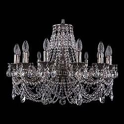 Подвесная люстра Bohemia Ivele CrystalБолее 6 ламп<br>Артикул - BI_1702_14_C_NB,Бренд - Bohemia Ivele Crystal (Чехия),Коллекция - 1702,Гарантия, месяцы - 24,Высота, мм - 500,Диаметр, мм - 730,Размер упаковки, мм - 640x640x320,Тип лампы - компактная люминесцентная [КЛЛ] ИЛИнакаливания ИЛИсветодиодная [LED],Общее кол-во ламп - 14,Напряжение питания лампы, В - 220,Максимальная мощность лампы, Вт - 40,Лампы в комплекте - отсутствуют,Цвет плафонов и подвесок - неокрашенный,Тип поверхности плафонов - прозрачный,Материал плафонов и подвесок - хрусталь,Цвет арматуры - никель черненый,Тип поверхности арматуры - глянцевый, рельефный,Материал арматуры - латунь,Возможность подлючения диммера - можно, если установить лампу накаливания,Форма и тип колбы - свеча ИЛИ свеча на ветру,Тип цоколя лампы - E14,Класс электробезопасности - I,Общая мощность, Вт - 560,Степень пылевлагозащиты, IP - 20,Диапазон рабочих температур - комнатная температура,Дополнительные параметры - способ крепления светильника к потолку - на крюке, указана высота светильника без подвеса<br>