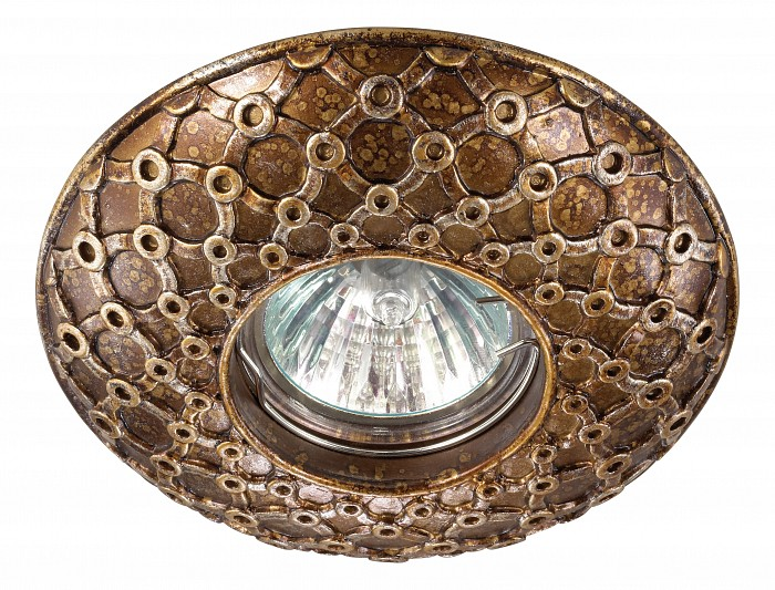 Встраиваемый светильник NovotechВстраиваемые светильники<br>Артикул - NV_370116,Бренд - Novotech (Венгрия),Коллекция - Pattern,Гарантия, месяцы - 24,Время изготовления, дней - 1,Глубина, мм - 17,Диаметр, мм - 115,Размер врезного отверстия, мм - 65,Тип лампы - галогеновая ИЛИсветодиодная [LED],Общее кол-во ламп - 1,Напряжение питания лампы, В - 12,Максимальная мощность лампы, Вт - 50,Лампы в комплекте - отсутствуют,Цвет арматуры - золото, коричневый,Тип поверхности арматуры - глянцевый, рельефный,Материал арматуры - камень песчаник,Необходимые компоненты - трансформатор 12В,Компоненты, входящие в комплект - нет,Форма и тип колбы - полусферическая с рефлектором,Тип цоколя лампы - GX5.3,Класс электробезопасности - III,Напряжение питания, В - 220,Степень пылевлагозащиты, IP - 20,Диапазон рабочих температур - комнатная температура<br>