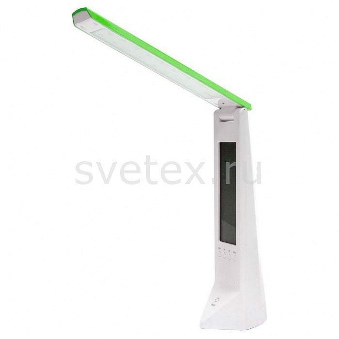 Настольная лампа FeronПолимерные<br>Артикул - FE_24191,Бренд - Feron (Китай),Коллекция - DE1710,Гарантия, месяцы - 24,Время изготовления, дней - 1,Ширина, мм - 51,Высота, мм - 195,Выступ, мм - 68,Тип лампы - светодиодная [LED],Общее кол-во ламп - 1,Напряжение питания лампы, В - 5,Максимальная мощность лампы, Вт - 1.8,Цвет лампы - белый дневной,Лампы в комплекте - светодиодная [LED],Цвет плафонов и подвесок - белый, зеленый,Тип поверхности плафонов - матовый,Материал плафонов и подвесок - металл, полимер,Цвет арматуры - белый, зеленый,Тип поверхности арматуры - матовый,Материал арматуры - металл,Количество плафонов - 1,Наличие выключателя, диммера или пульта ДУ - сенсорный выключатель, сенсорный диммер,Компоненты, входящие в комплект - блок питания 5В, кабель с USB разъемным длиной 1м,Цветовая температура, K - 6000 K,Световой поток, лм - 100,Экономичнее лампы накаливания - в 8.9 раза,Светоотдача, лм/Вт - 50,Класс электробезопасности - II,Напряжение питания, В - 220,Степень пылевлагозащиты, IP - 20,Диапазон рабочих температур - комнатная температура,Дополнительные параметры - поворотный светильник, емкость батареи: 3, 7V 600MAH, 2 режима свечения:2, 5 часа в режиме яркого света, 4, 5 часа в экономичном режиме, жидкокристаллический дисплей (часы, будильник, дата, температура воздуха)<br>