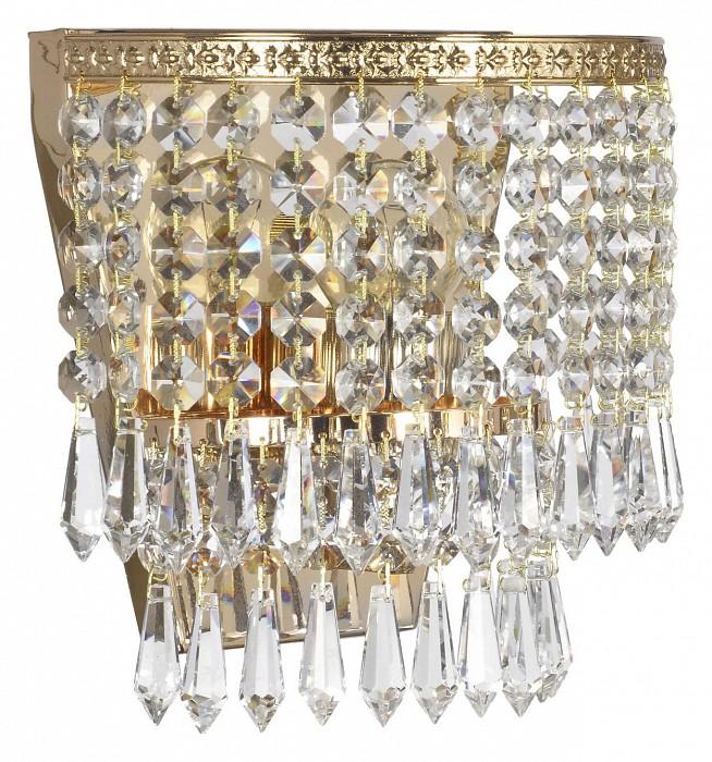 Накладной светильник Arti LampadariСветодиодные<br>Артикул - AL_Stella_E_2.10.501_G,Бренд - Arti Lampadari (Италия),Коллекция - Stella,Гарантия, месяцы - 24,Ширина, мм - 170,Высота, мм - 200,Тип лампы - компактная люминесцентная [КЛЛ] ИЛИнакаливания ИЛИсветодиодная [LED],Общее кол-во ламп - 1,Напряжение питания лампы, В - 220,Максимальная мощность лампы, Вт - 60,Лампы в комплекте - отсутствуют,Цвет плафонов и подвесок - неокрашенный,Тип поверхности плафонов - прозрачный,Материал плафонов и подвесок - хрусталь,Цвет арматуры - золото,Тип поверхности арматуры - глянцевый,Материал арматуры - металл,Возможность подлючения диммера - можно, если установить лампу накаливания,Тип цоколя лампы - E27,Класс электробезопасности - I,Степень пылевлагозащиты, IP - 20,Диапазон рабочих температур - комнатная температура,Дополнительные параметры - способ крепления светильника на стене – на монтажной пластине, светильник предназначен для использования со скрытой проводкой<br>