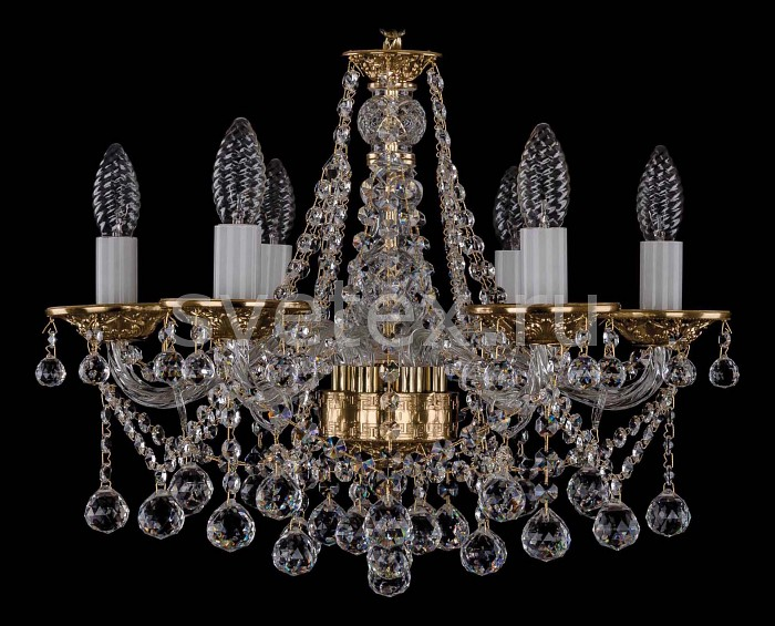 Фото Подвесная люстра Bohemia Ivele Crystal 1613 1613/6/165/Balls