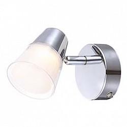 Спот GloboС 1 лампой<br>Артикул - GB_56185-1,Бренд - Globo (Австрия),Коллекция - Teika,Гарантия, месяцы - 24,Высота, мм - 95,Тип лампы - светодиодная [LED],Общее кол-во ламп - 1,Напряжение питания лампы, В - 20,Максимальная мощность лампы, Вт - 3,Лампы в комплекте - светодиодная [LED],Цвет плафонов и подвесок - белый, неокрашенный,Тип поверхности плафонов - матовый, прозрачный,Материал плафонов и подвесок - полимер,Цвет арматуры - хром,Тип поверхности арматуры - глянцевый,Материал арматуры - металл,Возможность подлючения диммера - нельзя,Класс электробезопасности - I,Степень пылевлагозащиты, IP - 20,Диапазон рабочих температур - комнатная температура,Дополнительные параметры - способ крепления светильника к стене -  на монтажной пластине, поворотный светильник, светильник предназначен для установки со крытой проводкой<br>