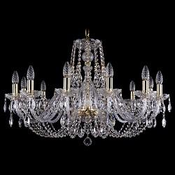 Подвесная люстра Bohemia Ivele CrystalБолее 6 ламп<br>Артикул - BI_1406_12_300_G,Бренд - Bohemia Ivele Crystal (Чехия),Коллекция - 1406,Гарантия, месяцы - 24,Высота, мм - 530,Диаметр, мм - 820,Размер упаковки, мм - 710x710x350,Тип лампы - компактная люминесцентная [КЛЛ] ИЛИнакаливания ИЛИсветодиодная [LED],Общее кол-во ламп - 12,Напряжение питания лампы, В - 220,Максимальная мощность лампы, Вт - 40,Лампы в комплекте - отсутствуют,Цвет плафонов и подвесок - неокрашенный,Тип поверхности плафонов - прозрачный,Материал плафонов и подвесок - хрусталь,Цвет арматуры - золото, неокрашенный,Тип поверхности арматуры - глянцевый, прозрачный, рельефный,Материал арматуры - металл, стекло,Возможность подлючения диммера - можно, если установить лампу накаливания,Форма и тип колбы - свеча ИЛИ свеча на ветру,Тип цоколя лампы - E14,Класс электробезопасности - I,Общая мощность, Вт - 480,Степень пылевлагозащиты, IP - 20,Диапазон рабочих температур - комнатная температура,Дополнительные параметры - способ крепления светильника к потолку - на крюке, указана высота светильника без подвеса<br>