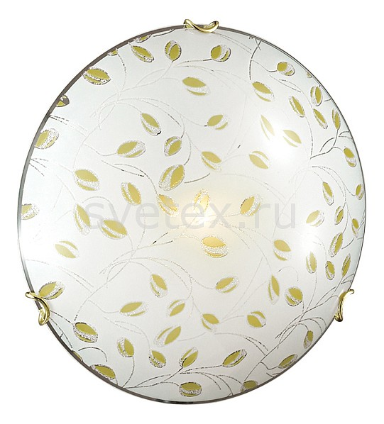 Накладной светильник SonexКруглые<br>Артикул - SN_123_K,Бренд - Sonex (Россия),Коллекция - Etra,Гарантия, месяцы - 24,Выступ, мм - 100,Диаметр, мм - 300,Тип лампы - компактная люминесцентная [КЛЛ] ИЛИнакаливания ИЛИсветодиодная [LED],Общее кол-во ламп - 2,Напряжение питания лампы, В - 220,Максимальная мощность лампы, Вт - 60,Лампы в комплекте - отсутствуют,Цвет плафонов и подвесок - белый с каймой и желтым рисунком,Тип поверхности плафонов - матовый,Материал плафонов и подвесок - стекло,Цвет арматуры - золото,Тип поверхности арматуры - глянцевый,Материал арматуры - металл,Количество плафонов - 1,Возможность подлючения диммера - можно, если установить лампу накаливания,Тип цоколя лампы - E27,Класс электробезопасности - I,Общая мощность, Вт - 120,Степень пылевлагозащиты, IP - 20,Диапазон рабочих температур - комнатная температура<br>
