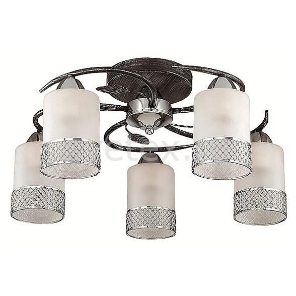 Потолочная люстра LumionЛюстры<br>Артикул - LMN_3022_5C,Бренд - Lumion (Италия),Коллекция - Mirabella,Гарантия, месяцы - 24,Высота, мм - 230,Диаметр, мм - 520,Размер упаковки, мм - 140x260x330,Тип лампы - компактная люминесцентная [КЛЛ] ИЛИнакаливания ИЛИсветодиодная [LED],Общее кол-во ламп - 5,Напряжение питания лампы, В - 220,Максимальная мощность лампы, Вт - 60,Лампы в комплекте - отсутствуют,Цвет плафонов и подвесок - белый с хромированной каймой,Тип поверхности плафонов - матовый,Материал плафонов и подвесок - стекло,Цвет арматуры - черный с серебряной патиной, хром,Тип поверхности арматуры - матовый,Материал арматуры - металл,Количество плафонов - 5,Возможность подлючения диммера - можно, если установить лампу накаливания,Тип цоколя лампы - E27,Класс электробезопасности - I,Общая мощность, Вт - 300,Степень пылевлагозащиты, IP - 20,Диапазон рабочих температур - комнатная температура,Дополнительные параметры - способ крепления к потолку - на монтажной пластине<br>