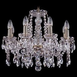 Подвесная люстра Bohemia Ivele CrystalБолее 6 ламп<br>Артикул - BI_1413_8_165_Pa,Бренд - Bohemia Ivele Crystal (Чехия),Коллекция - 1413,Гарантия, месяцы - 12,Высота, мм - 410,Диаметр, мм - 510,Размер упаковки, мм - 450x450x200,Тип лампы - компактная люминесцентная [КЛЛ] ИЛИнакаливания ИЛИсветодиодная [LED],Общее кол-во ламп - 8,Напряжение питания лампы, В - 220,Максимальная мощность лампы, Вт - 40,Лампы в комплекте - отсутствуют,Цвет плафонов и подвесок - неокрашенный,Тип поверхности плафонов - прозрачный,Материал плафонов и подвесок - хрусталь,Цвет арматуры - неокрашенный, патина,Тип поверхности арматуры - глянцевый, прозрачный,Материал арматуры - металл, стекло,Возможность подлючения диммера - можно, если установить лампу накаливания,Форма и тип колбы - свеча ИЛИ свеча на ветру,Тип цоколя лампы - E14,Класс электробезопасности - I,Общая мощность, Вт - 320,Степень пылевлагозащиты, IP - 20,Диапазон рабочих температур - комнатная температура,Дополнительные параметры - способ крепления светильника к потолку – на крюке<br>