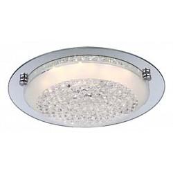 Накладной светильник GloboКруглые<br>Артикул - GB_48249,Бренд - Globo (Австрия),Коллекция - Froo,Гарантия, месяцы - 24,Высота, мм - 90,Диаметр, мм - 315,Тип лампы - светодиодная [LED],Общее кол-во ламп - 1,Максимальная мощность лампы, Вт - 12,Лампы в комплекте - светодиодная [LED],Цвет плафонов и подвесок - неокрашенный,Тип поверхности плафонов - прозрачный,Материал плафонов и подвесок - стекло, хрусталь,Цвет арматуры - хром,Тип поверхности арматуры - глянцевый,Материал арматуры - металл,Возможность подлючения диммера - нельзя,Класс электробезопасности - I,Степень пылевлагозащиты, IP - 20,Диапазон рабочих температур - комнатная температура,Дополнительные параметры - способ крепления к потолку - на монтажной пластине<br>