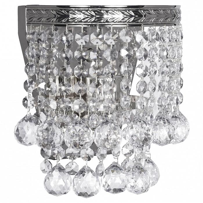 Накладной светильник Dio D'ArteСветодиодные<br>Артикул - DDA_Cremono_E_2.18.299_N,Бренд - Dio D'Arte (Италия),Коллекция - Cremono,Гарантия, месяцы - 24,Ширина, мм - 180,Высота, мм - 200,Тип лампы - компактная люминесцентная [КЛЛ] ИЛИнакаливания ИЛИсветодиодная  [LED],Общее кол-во ламп - 1,Напряжение питания лампы, В - 220,Максимальная мощность лампы, Вт - 60,Лампы в комплекте - отсутствуют,Цвет плафонов и подвесок - неокрашенный,Тип поверхности плафонов - прозрачный,Материал плафонов и подвесок - хрусталь Asfour,Цвет арматуры - никель,Тип поверхности арматуры - матовый,Материал арматуры - металл,Возможность подлючения диммера - можно, если установить лампу накаливания,Тип цоколя лампы - E27,Класс электробезопасности - I,Степень пылевлагозащиты, IP - 20,Диапазон рабочих температур - комнатная температура,Дополнительные параметры - способ крепления светильника к стене - на монтажной пластине, светильник предназначен для использования со скрытой проводкой<br>