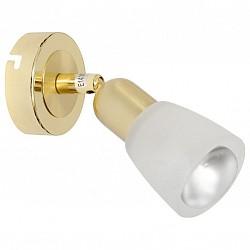 Спот De MarktС 1 лампой<br>Артикул - MW_504020601,Бренд - De Markt (Германия),Коллекция - Мона,Гарантия, месяцы - 24,Размер упаковки, мм - 180х100х100,Тип лампы - компактная люминесцентная [КЛЛ] ИЛИнакаливания ИЛИсветодиодная [LED],Общее кол-во ламп - 1,Напряжение питания лампы, В - 220,Максимальная мощность лампы, Вт - 40,Лампы в комплекте - отсутствуют,Цвет плафонов и подвесок - белый,Тип поверхности плафонов - матовый,Материал плафонов и подвесок - стекло,Цвет арматуры - золото,Тип поверхности арматуры - матовый,Материал арматуры - металл,Возможность подлючения диммера - можно, если установить лампу накаливания,Форма и тип колбы - груша плоская с рефлектором ИЛИполусферическая с рефлектором,Тип цоколя лампы - E14,Класс электробезопасности - I,Степень пылевлагозащиты, IP - 20,Диапазон рабочих температур - комнатная температура,Дополнительные параметры - поворотный светильник, рефлекторная лампа R50 (диаметр колбы 50 мм) или аналоги<br>