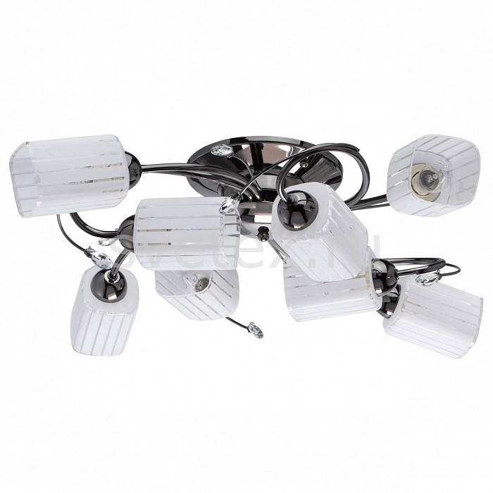 Потолочная люстра MW-LightЛюстры<br>Артикул - MW_638012608,Бренд - MW-Light (Германия),Коллекция - Олимпия 4,Гарантия, месяцы - 24,Длина, мм - 800,Высота, мм - 150,Тип лампы - компактная люминесцентная [КЛЛ] ИЛИнакаливания ИЛИсветодиодная [LED],Общее кол-во ламп - 8,Напряжение питания лампы, В - 220,Максимальная мощность лампы, Вт - 60,Лампы в комплекте - отсутствуют,Цвет плафонов и подвесок - белый полосатый, неокрашенный,Тип поверхности плафонов - матовый, прозрачный,Материал плафонов и подвесок - стекло, хрусталь,Цвет арматуры - никель,Тип поверхности арматуры - глянцевый,Материал арматуры - металл,Количество плафонов - 8,Возможность подлючения диммера - можно, если установить лампу накаливания,Тип цоколя лампы - E14,Класс электробезопасности - I,Общая мощность, Вт - 480,Степень пылевлагозащиты, IP - 20,Диапазон рабочих температур - комнатная температура,Дополнительные параметры - способ крепления светильника к потолку – на монтажной пластине<br>