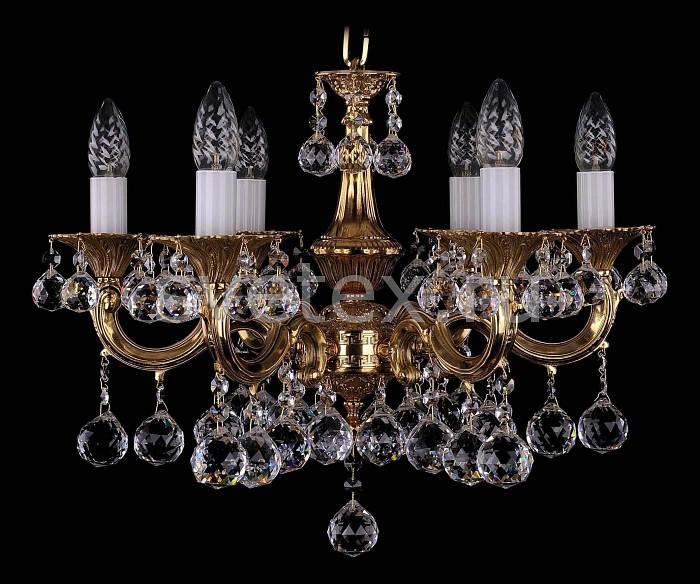 Фото Подвесная люстра Bohemia Ivele Crystal 1701 1701/6/A/G/Balls