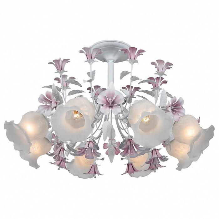 Люстра на штанге ST-LuceЛюстры<br>Артикул - SL701.503.08,Бренд - ST-Luce (Италия),Коллекция - Brocca,Гарантия, месяцы - 24,Высота, мм - 580,Диаметр, мм - 640,Размер упаковки, мм - 600x310x320,Тип лампы - компактная люминесцентная [КЛЛ] ИЛИнакаливания ИЛИсветодиодная [LED],Общее кол-во ламп - 8,Напряжение питания лампы, В - 220,Максимальная мощность лампы, Вт - 60,Лампы в комплекте - отсутствуют,Цвет плафонов и подвесок - белый,Тип поверхности плафонов - матовый,Материал плафонов и подвесок - стекло,Цвет арматуры - белый, пурпурный,Тип поверхности арматуры - матовый,Материал арматуры - металл,Количество плафонов - 8,Возможность подлючения диммера - можно, если установить лампу накаливания,Тип цоколя лампы - E27,Класс электробезопасности - I,Общая мощность, Вт - 480,Степень пылевлагозащиты, IP - 20,Диапазон рабочих температур - комнатная температура,Дополнительные параметры - способ крепления к потолку - на монтажной пластине<br>