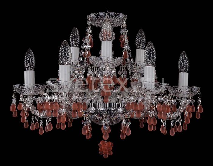 Фото Подвесная люстра Bohemia Ivele Crystal 1410 1410/6_3/195/Ni/7010