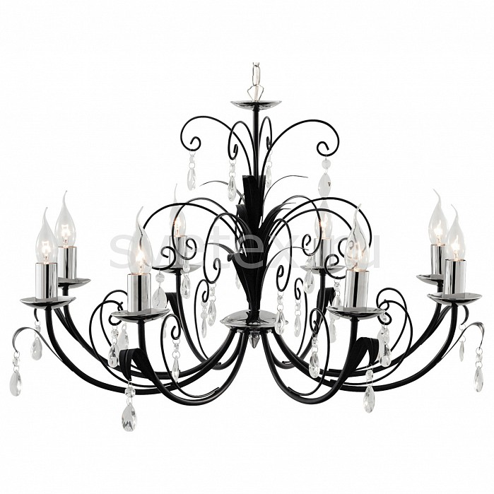 Подвесная люстра Arte LampБолее 6 ламп<br>Артикул - AR_A1742LM-8BK,Бренд - Arte Lamp (Италия),Коллекция - Romana,Гарантия, месяцы - 24,Время изготовления, дней - 1,Высота, мм - 440,Диаметр, мм - 780,Тип лампы - компактная люминесцентная [КЛЛ] ИЛИнакаливания ИЛИсветодиодная [LED],Общее кол-во ламп - 8,Напряжение питания лампы, В - 220,Максимальная мощность лампы, Вт - 40,Лампы в комплекте - отсутствуют,Цвет плафонов и подвесок - неокрашенный,Тип поверхности плафонов - прозрачный,Материал плафонов и подвесок - хрусталь,Цвет арматуры - хром, черный,Тип поверхности арматуры - глянцевый,Материал арматуры - металл,Возможность подлючения диммера - можно, если установить лампу накаливания,Форма и тип колбы - свеча ИЛИ свеча на ветру,Тип цоколя лампы - E14,Класс электробезопасности - I,Общая мощность, Вт - 320,Степень пылевлагозащиты, IP - 20,Диапазон рабочих температур - комнатная температура,Дополнительные параметры - указана высота светильника без подвеса, способ крепления к потолку — на монтажной пластине<br>
