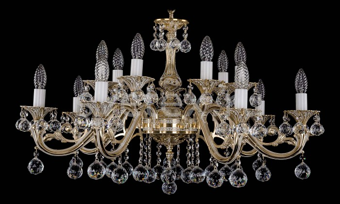 Фото Подвесная люстра Bohemia Ivele Crystal 1703 1703/14/A/GW/Balls