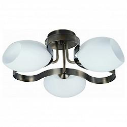 Потолочная люстра IDLampНе более 4 ламп<br>Артикул - ID_601_3PF-SUNoldbronze,Бренд - IDLamp (Италия),Коллекция - 601,Гарантия, месяцы - 24,Высота, мм - 280,Диаметр, мм - 430,Тип лампы - компактная люминесцентная [КЛЛ] ИЛИнакаливания ИЛИсветодиодная [LED],Общее кол-во ламп - 3,Напряжение питания лампы, В - 220,Максимальная мощность лампы, Вт - 60,Лампы в комплекте - отсутствуют,Цвет плафонов и подвесок - белый,Тип поверхности плафонов - матовый,Материал плафонов и подвесок - стекло,Цвет арматуры - бронза античная,Тип поверхности арматуры - глянцевый,Материал арматуры - металл,Возможность подлючения диммера - можно, если установить лампу накаливания,Тип цоколя лампы - E14,Класс электробезопасности - I,Общая мощность, Вт - 180,Степень пылевлагозащиты, IP - 20,Диапазон рабочих температур - комнатная температура,Дополнительные параметры - способ крепления светильника к потолку — на монтажной пластине<br>