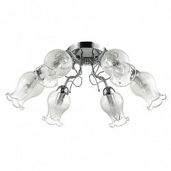 Потолочная люстра Lumion5 или 6 ламп<br>Артикул - LMN_3075_6C,Бренд - Lumion (Италия),Коллекция - Frizza,Гарантия, месяцы - 24,Высота, мм - 240,Диаметр, мм - 590,Размер упаковки, мм - 210x290x520,Тип лампы - компактная люминесцентная [КЛЛ] ИЛИнакаливания ИЛИсветодиодная [LED],Общее кол-во ламп - 6,Напряжение питания лампы, В - 220,Максимальная мощность лампы, Вт - 60,Лампы в комплекте - отсутствуют,Цвет плафонов и подвесок - неокрашенный с рисунком,Тип поверхности плафонов - прозрачный,Материал плафонов и подвесок - стекло,Цвет арматуры - хром,Тип поверхности арматуры - глянцевый, металлик,Материал арматуры - металл,Возможность подлючения диммера - можно, если установить лампу накаливания,Тип цоколя лампы - E14,Класс электробезопасности - I,Общая мощность, Вт - 360,Степень пылевлагозащиты, IP - 20,Диапазон рабочих температур - комнатная температура,Дополнительные параметры - способ крепления к потолку - на монтажной пластине<br>