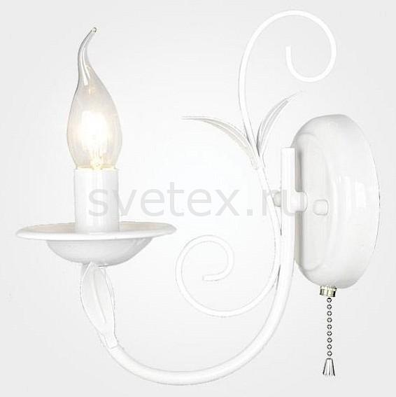 Бра EurosvetНастенные светильники<br>Артикул - EV_78692,Бренд - Eurosvet (Китай),Коллекция - 60050,Гарантия, месяцы - 24,Ширина, мм - 220,Высота, мм - 220,Выступ, мм - 240,Тип лампы - компактная люминесцентная [КЛЛ] ИЛИнакаливания ИЛИсветодиодная [LED],Общее кол-во ламп - 1,Напряжение питания лампы, В - 220,Максимальная мощность лампы, Вт - 40,Лампы в комплекте - отсутствуют,Цвет арматуры - белый,Тип поверхности арматуры - матовый,Материал арматуры - металл,Наличие выключателя, диммера или пульта ДУ - выключатель шнуровой,Возможность подлючения диммера - можно, если установить лампу накаливания,Форма и тип колбы - свеча ИЛИ свеча на ветру,Тип цоколя лампы - E14,Класс электробезопасности - I,Степень пылевлагозащиты, IP - 20,Диапазон рабочих температур - комнатная температура,Дополнительные параметры - способ крепления светильника к стене - на монтажной пластине, светильник предназначен для  использования со скрытой проводкой<br>