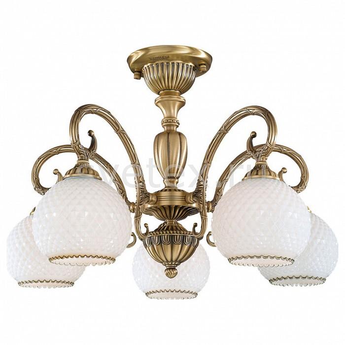 Люстра на штанге Reccagni AngeloЛюстры<br>Артикул - RA_PL_8420_5,Бренд - Reccagni Angelo (Италия),Коллекция - 8400,Гарантия, месяцы - 24,Высота, мм - 410,Диаметр, мм - 600,Тип лампы - компактная люминесцентная [КЛЛ] ИЛИнакаливания ИЛИсветодиодная [LED],Общее кол-во ламп - 5,Напряжение питания лампы, В - 220,Максимальная мощность лампы, Вт - 60,Лампы в комплекте - отсутствуют,Цвет плафонов и подвесок - белый,Тип поверхности плафонов - матовый, рельефный,Материал плафонов и подвесок - стекло,Цвет арматуры - бронза состаренная,Тип поверхности арматуры - матовый, рельефный,Материал арматуры - латунь,Количество плафонов - 5,Возможность подлючения диммера - можно, если установить лампу накаливания,Тип цоколя лампы - E27,Класс электробезопасности - I,Общая мощность, Вт - 300,Степень пылевлагозащиты, IP - 20,Диапазон рабочих температур - комнатная температура,Дополнительные параметры - способ крепления к потолку - на монтажной пластине<br>
