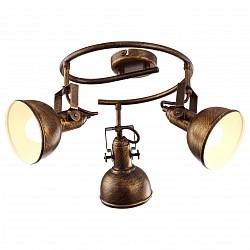 Спот Arte LampС 3 лампами<br>Артикул - AR_A5215PL-3BR,Бренд - Arte Lamp (Италия),Коллекция - Martin,Гарантия, месяцы - 24,Диаметр, мм - 360,Размер упаковки, мм - 340x300x210,Тип лампы - компактная люминесцентная [КЛЛ] ИЛИнакаливания ИЛИсветодиодная [LED],Общее кол-во ламп - 3,Напряжение питания лампы, В - 220,Максимальная мощность лампы, Вт - 40,Лампы в комплекте - отсутствуют,Цвет плафонов и подвесок - коричневый,Тип поверхности плафонов - глянцевый,Материал плафонов и подвесок - металл,Цвет арматуры - коричневый,Тип поверхности арматуры - глянцевый,Материал арматуры - металл,Возможность подлючения диммера - можно, если установить лампу накаливания,Тип цоколя лампы - E14,Класс электробезопасности - I,Общая мощность, Вт - 120,Степень пылевлагозащиты, IP - 20,Диапазон рабочих температур - комнатная температура,Дополнительные параметры - способ крепления светильника к потолку и стене – на монтажной пластине, поворотный светильник<br>