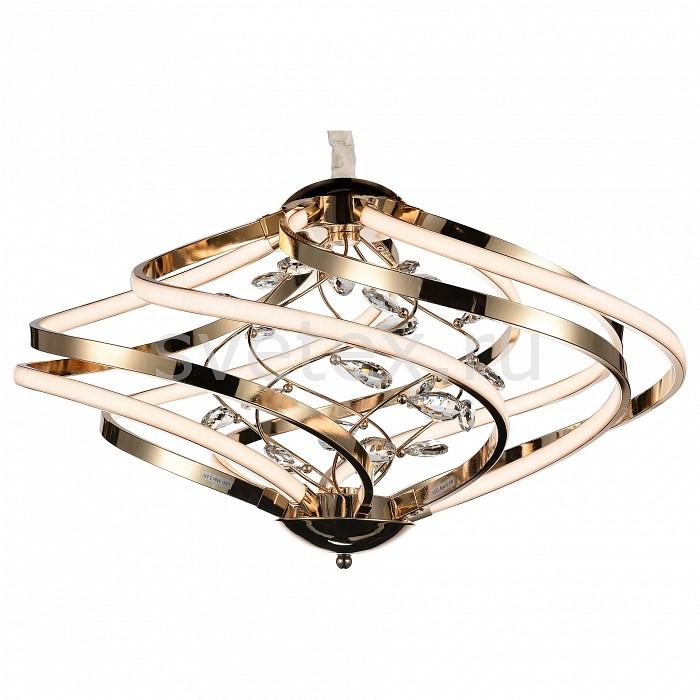 Подвесная люстра ST-LuceПолимерные плафоны<br>Артикул - SL924.203.08,Бренд - ST-Luce (Италия),Коллекция - SL924,Гарантия, месяцы - 24,Время изготовления, дней - 1,Высота, мм - 340-1100,Диаметр, мм - 590,Размер упаковки, мм - 620х620х410,Тип лампы - светодиодная [LED],Общее кол-во ламп - 8,Напряжение питания лампы, В - 220,Максимальная мощность лампы, Вт - 5, 7,Цвет лампы - белый,Лампы в комплекте - светодиодные [LED],Цвет плафонов и подвесок - белый, неокрашенный,Тип поверхности плафонов - матовый, прозрачный,Материал плафонов и подвесок - акрил, хрусталь,Цвет арматуры - золото,Тип поверхности арматуры - глянцевый,Материал арматуры - металл,Количество плафонов - 8,Возможность подлючения диммера - нельзя,Цветовая температура, K - 4000 K,Световой поток, лм - 7600,Экономичнее лампы накаливания - в 10 раз,Светоотдача, лм/Вт - 165,Класс электробезопасности - I,Общая мощность, Вт - 46,Степень пылевлагозащиты, IP - 20,Диапазон рабочих температур - комнатная температура,Дополнительные параметры - регулируется по высоте,  способ крепления светильника к потолку – на монтажной пластине<br>