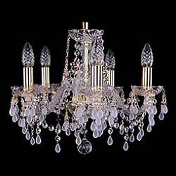 Подвесная люстра Bohemia Ivele Crystal5 или 6 ламп<br>Артикул - BI_1410_5_141_G_V0300,Бренд - Bohemia Ivele Crystal (Чехия),Коллекция - 1410,Гарантия, месяцы - 24,Высота, мм - 340,Диаметр, мм - 420,Размер упаковки, мм - 450x450x200,Тип лампы - компактная люминесцентная [КЛЛ] ИЛИнакаливания ИЛИсветодиодная [LED],Общее кол-во ламп - 5,Напряжение питания лампы, В - 220,Максимальная мощность лампы, Вт - 40,Лампы в комплекте - отсутствуют,Цвет плафонов и подвесок - белый, неокрашенный,Тип поверхности плафонов - матовый, прозрачный,Материал плафонов и подвесок - хрусталь,Цвет арматуры - золото, неокрашенный,Тип поверхности арматуры - глянцевый, прозрачный, рельефный,Материал арматуры - металл, стекло,Возможность подлючения диммера - можно, если установить лампу накаливания,Форма и тип колбы - свеча ИЛИ свеча на ветру,Тип цоколя лампы - E14,Класс электробезопасности - I,Общая мощность, Вт - 200,Степень пылевлагозащиты, IP - 20,Диапазон рабочих температур - комнатная температура,Дополнительные параметры - способ крепления светильника к потолку - на крюке, указана высота светильника без подвеса<br>