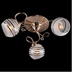 Потолочная люстра EurosvetНе более 4 ламп<br>Артикул - EV_6134,Бренд - Eurosvet (Китай),Коллекция - 9134,Гарантия, месяцы - 24,Высота, мм - 180,Диаметр, мм - 480,Тип лампы - компактная люминесцентная [КЛЛ] ИЛИнакаливания ИЛИсветодиодная [LED],Общее кол-во ламп - 3,Напряжение питания лампы, В - 220,Максимальная мощность лампы, Вт - 60,Лампы в комплекте - отсутствуют,Цвет плафонов и подвесок - разноцветный полосатый: белый, золото, неокрашенный,Тип поверхности плафонов - матовый, прозрачный,Материал плафонов и подвесок - стекло, хрусталь,Цвет арматуры - золото,Тип поверхности арматуры - глянцевый,Материал арматуры - металл,Тип цоколя лампы - E27,Класс электробезопасности - I,Общая мощность, Вт - 180,Степень пылевлагозащиты, IP - 20,Диапазон рабочих температур - комнатная температура<br>