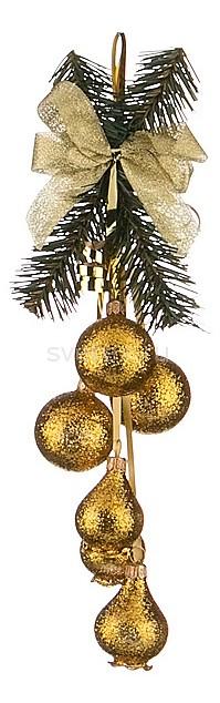Елочная игрушка АРТИ-МЕлочные игрушки<br>Артикул - art_860-319,Бренд - АРТИ-М (Россия),Коллекция - Музыка,Высота, мм - 300,Цвет - золотой,Материал - стекло<br>