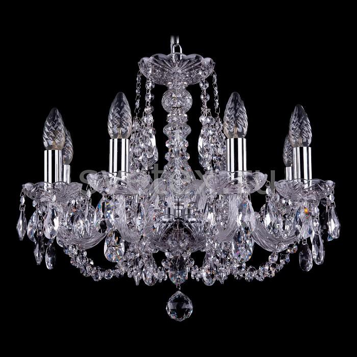 Подвесная люстра Bohemia Ivele CrystalБолее 6 ламп<br>Артикул - BI_1406_8_160_Ni,Бренд - Bohemia Ivele Crystal (Чехия),Коллекция - 1406,Гарантия, месяцы - 24,Высота, мм - 410,Диаметр, мм - 510,Размер упаковки, мм - 450x450x200,Тип лампы - компактная люминесцентная [КЛЛ] ИЛИнакаливания ИЛИсветодиодная [LED],Общее кол-во ламп - 8,Напряжение питания лампы, В - 220,Максимальная мощность лампы, Вт - 40,Лампы в комплекте - отсутствуют,Цвет плафонов и подвесок - неокрашенный,Тип поверхности плафонов - прозрачный,Материал плафонов и подвесок - хрусталь,Цвет арматуры - неокрашенный, никель,Тип поверхности арматуры - глянцевый, прозрачный, рельефный,Материал арматуры - металл, стекло,Возможность подлючения диммера - можно, если установить лампу накаливания,Форма и тип колбы - свеча ИЛИ свеча на ветру,Тип цоколя лампы - E14,Класс электробезопасности - I,Общая мощность, Вт - 320,Степень пылевлагозащиты, IP - 20,Диапазон рабочих температур - комнатная температура,Дополнительные параметры - способ крепления светильника к потолку - на крюке, указана высота светильника без подвеса<br>