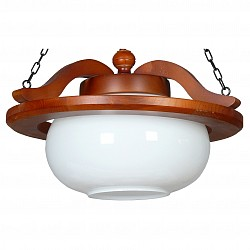 Подвесной светильник АврораДеревянные<br>Артикул - AV_11023-1L,Бренд - Аврора (Россия),Коллекция - Рондо,Гарантия, месяцы - 24,Высота, мм - 340,Диаметр, мм - 400,Тип лампы - компактная люминесцентная [КЛЛ] ИЛИнакаливания ИЛИсветодиодная  [LED],Общее кол-во ламп - 1,Напряжение питания лампы, В - 220,Максимальная мощность лампы, Вт - 60,Лампы в комплекте - отсутствуют,Цвет плафонов и подвесок - белый,Тип поверхности плафонов - матовый,Материал плафонов и подвесок - стекло,Цвет арматуры - дуб,Тип поверхности арматуры - матовый,Материал арматуры - дерево,Возможность подлючения диммера - можно, если установить лампу накаливания,Тип цоколя лампы - E27,Класс электробезопасности - I,Степень пылевлагозащиты, IP - 20,Диапазон рабочих температур - комнатная температура,Дополнительные параметры - способ крепления светильника к потолку - на крюке, указана высота светильника без подвеса, стиль кантри<br>