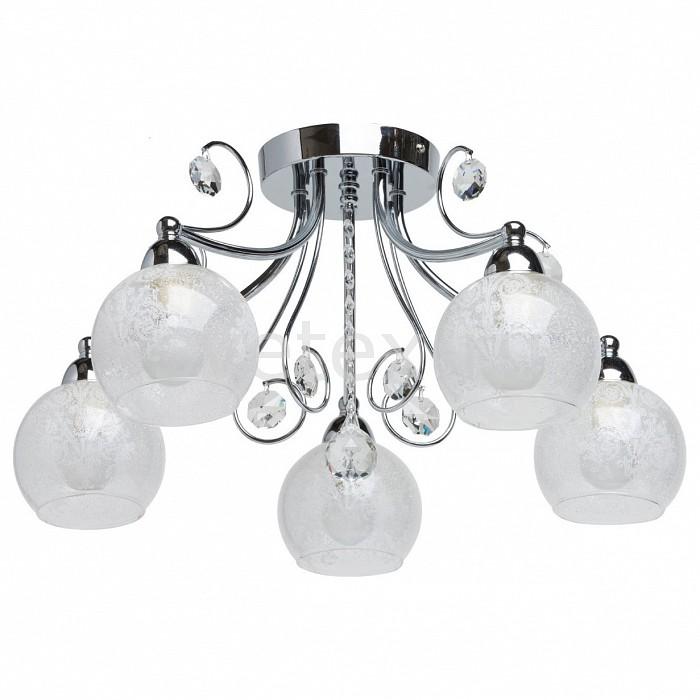 Потолочная люстра De MarktЛюстры<br>Артикул - MW_358017005,Бренд - De Markt (Германия),Коллекция - Грация 8,Гарантия, месяцы - 24,Высота, мм - 270,Диаметр, мм - 500,Тип лампы - компактная люминесцентная [КЛЛ] ИЛИнакаливания ИЛИсветодиодная [LED],Общее кол-во ламп - 5,Напряжение питания лампы, В - 220,Максимальная мощность лампы, Вт - 60,Лампы в комплекте - отсутствуют,Цвет плафонов и подвесок - неокрашенный с рисунком, неокрашенный,Тип поверхности плафонов - прозрачный,Материал плафонов и подвесок - стекло, хрусталь,Цвет арматуры - хром,Тип поверхности арматуры - глянцевый,Материал арматуры - металл,Количество плафонов - 5,Возможность подлючения диммера - можно, если установить лампу накаливания,Тип цоколя лампы - E14,Класс электробезопасности - I,Общая мощность, Вт - 300,Степень пылевлагозащиты, IP - 20,Диапазон рабочих температур - комнатная температура,Дополнительные параметры - способ крепления светильника на потолке - на монтажной пластине<br>