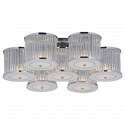 Потолочная люстра Arte LampБолее 6 ламп<br>Артикул - AR_A8240PL-7CC,Бренд - Arte Lamp (Италия),Коллекция - Glassy,Гарантия, месяцы - 24,Высота, мм - 210,Диаметр, мм - 750,Размер упаковки, мм - 780x700x260,Тип лампы - компактная люминесцентная [КЛЛ] ИЛИнакаливания ИЛИсветодиодная [LED],Общее кол-во ламп - 7,Напряжение питания лампы, В - 220,Максимальная мощность лампы, Вт - 40,Лампы в комплекте - отсутствуют,Цвет плафонов и подвесок - неокрашенный,Тип поверхности плафонов - матовый, прозрачный,Материал плафонов и подвесок - стекло, хрусталь,Цвет арматуры - хром,Тип поверхности арматуры - глянцевый,Материал арматуры - металл,Возможность подлючения диммера - можно, если установить лампу накаливания,Тип цоколя лампы - E14,Класс электробезопасности - I,Общая мощность, Вт - 280,Степень пылевлагозащиты, IP - 20,Диапазон рабочих температур - комнатная температура,Дополнительные параметры - способ крепления светильника к потолку – на монтажной пластине<br>