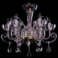 Подвесная люстра Bohemia Ivele Crystal5 или 6 ламп<br>Артикул - BI_1333_6_240_G,Бренд - Bohemia Ivele Crystal (Чехия),Коллекция - 1333,Гарантия, месяцы - 24,Высота, мм - 600,Диаметр, мм - 650,Размер упаковки, мм - 510x510x200,Тип лампы - компактная люминесцентная [КЛЛ] ИЛИнакаливания ИЛИсветодиодная [LED],Общее кол-во ламп - 6,Напряжение питания лампы, В - 220,Максимальная мощность лампы, Вт - 40,Лампы в комплекте - отсутствуют,Цвет плафонов и подвесок - неокрашенный,Тип поверхности плафонов - прозрачный,Материал плафонов и подвесок - хрусталь,Цвет арматуры - золото, неокрашенный,Тип поверхности арматуры - глянцевый, прозрачный,Материал арматуры - металл, стекло,Возможность подлючения диммера - можно, если установить лампу накаливания,Форма и тип колбы - свеча,Тип цоколя лампы - E14,Класс электробезопасности - I,Общая мощность, Вт - 240,Степень пылевлагозащиты, IP - 20,Диапазон рабочих температур - комнатная температура,Дополнительные параметры - способ крепления светильника к потолку – на крюке<br>