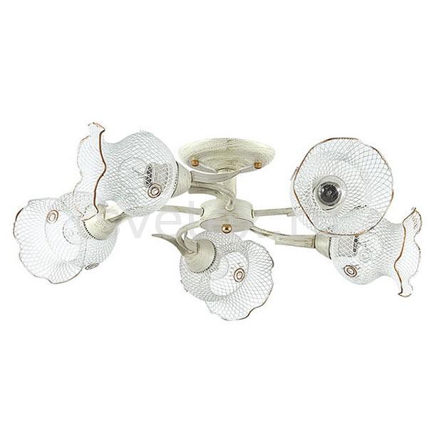 Люстра на штанге LumionСветильники<br>Артикул - LMN_3108_5C,Бренд - Lumion (Италия),Коллекция - Rozetta,Гарантия, месяцы - 24,Высота, мм - 150,Диаметр, мм - 630,Размер упаковки, мм - 190x280x410,Тип лампы - компактная люминесцентная [КЛЛ] ИЛИнакаливания ИЛИсветодиодная [LED],Общее кол-во ламп - 5,Напряжение питания лампы, В - 220,Максимальная мощность лампы, Вт - 60,Лампы в комплекте - отсутствуют,Цвет плафонов и подвесок - белый с каймой,Тип поверхности плафонов - матовый,Материал плафонов и подвесок - металл,Цвет арматуры - белый с золотой патиной,Тип поверхности арматуры - матовый,Материал арматуры - металл,Количество плафонов - 5,Возможность подлючения диммера - можно, если установить лампу накаливания,Тип цоколя лампы - E27,Класс электробезопасности - I,Общая мощность, Вт - 300,Степень пылевлагозащиты, IP - 20,Диапазон рабочих температур - комнатная температура,Дополнительные параметры - способ крепления к потолку - на монтажной пластине<br>