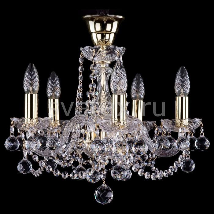 Подвесная люстра Bohemia Ivele Crystal5 или 6 ламп<br>Артикул - BI_1402_5_141_G_Balls_Tube,Бренд - Bohemia Ivele Crystal (Чехия),Коллекция - 1402,Гарантия, месяцы - 24,Высота, мм - 400,Диаметр, мм - 440,Размер упаковки, мм - 450x450x200,Тип лампы - компактная люминесцентная [КЛЛ] ИЛИнакаливания ИЛИсветодиодная [LED],Общее кол-во ламп - 5,Напряжение питания лампы, В - 220,Максимальная мощность лампы, Вт - 40,Лампы в комплекте - отсутствуют,Цвет плафонов и подвесок - неокрашенный,Тип поверхности плафонов - прозрачный,Материал плафонов и подвесок - хрусталь,Цвет арматуры - золото, неокрашенный,Тип поверхности арматуры - глянцевый, прозрачный,Материал арматуры - металл, стекло,Возможность подлючения диммера - можно, если установить лампу накаливания,Форма и тип колбы - свеча ИЛИ свеча на ветру,Тип цоколя лампы - E14,Класс электробезопасности - I,Общая мощность, Вт - 200,Степень пылевлагозащиты, IP - 20,Диапазон рабочих температур - комнатная температура,Дополнительные параметры - способ крепления светильника к потолку - на крюке, указана высота светильники без подвеса<br>
