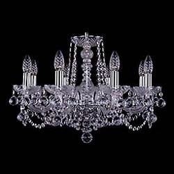 Подвесная люстра Bohemia Ivele CrystalБолее 6 ламп<br>Артикул - BI_1402_8_195_Ni_Balls,Бренд - Bohemia Ivele Crystal (Чехия),Коллекция - 1402,Гарантия, месяцы - 24,Высота, мм - 410,Диаметр, мм - 580,Размер упаковки, мм - 450x450x200,Тип лампы - компактная люминесцентная [КЛЛ] ИЛИнакаливания ИЛИсветодиодная [LED],Общее кол-во ламп - 8,Напряжение питания лампы, В - 220,Максимальная мощность лампы, Вт - 40,Лампы в комплекте - отсутствуют,Цвет плафонов и подвесок - неокрашенный,Тип поверхности плафонов - прозрачный,Материал плафонов и подвесок - хрусталь,Цвет арматуры - неокрашенный, никель,Тип поверхности арматуры - глянцевый, прозрачный,Материал арматуры - металл, стекло,Возможность подлючения диммера - можно, если установить лампу накаливания,Форма и тип колбы - свеча,Тип цоколя лампы - E14,Класс электробезопасности - I,Общая мощность, Вт - 320,Степень пылевлагозащиты, IP - 20,Диапазон рабочих температур - комнатная температура,Дополнительные параметры - способ крепления светильника к потолку – на крюке<br>