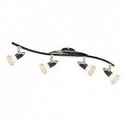 Спот GloboС 4 лампами<br>Артикул - GB_5449-4,Бренд - Globo (Австрия),Коллекция - Novara,Гарантия, месяцы - 24,Время изготовления, дней - 1,Размер упаковки, мм - 840x160x140,Тип лампы - компактная люминесцентная [КЛЛ] ИЛИнакаливания ИЛИсветодиодная [LED],Общее кол-во ламп - 4,Напряжение питания лампы, В - 220,Максимальная мощность лампы, Вт - 40,Лампы в комплекте - отсутствуют,Цвет плафонов и подвесок - бежевый с орнаментом,Тип поверхности плафонов - матовый,Материал плафонов и подвесок - стекло,Цвет арматуры - черный с эффектом золотой патины,Тип поверхности арматуры - матовый,Материал арматуры - металл,Возможность подлючения диммера - можно, если установить лампу накаливания,Тип цоколя лампы - E14,Класс электробезопасности - I,Общая мощность, Вт - 160,Степень пылевлагозащиты, IP - 20,Диапазон рабочих температур - комнатная температура,Дополнительные параметры - поворотный светильник, рефлекторная лампа R50 (диаметр колбы 50 мм) или аналоги<br>