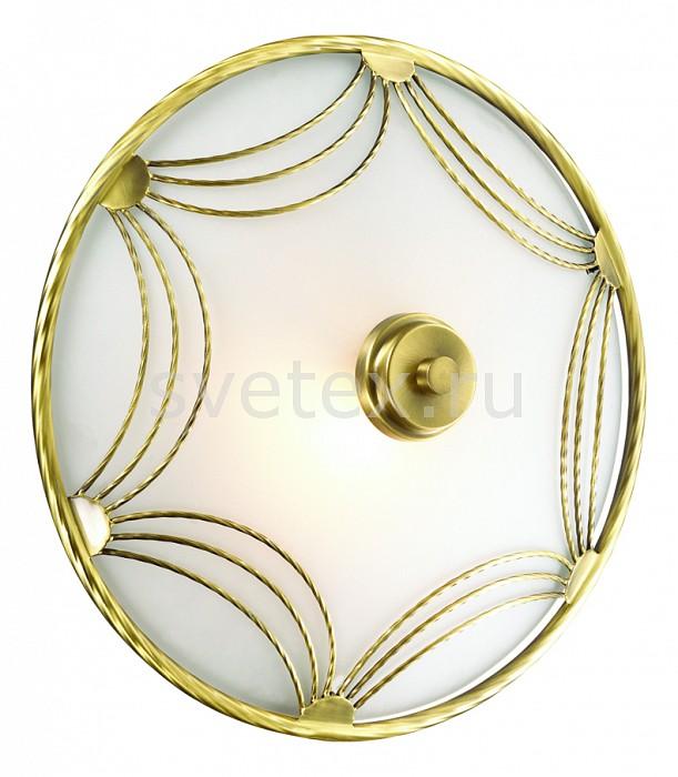 Накладной светильник SonexКруглые<br>Артикул - SN_1219,Бренд - Sonex (Россия),Коллекция - Salva,Гарантия, месяцы - 24,Выступ, мм - 150,Диаметр, мм - 300,Размер упаковки, мм - 120x320x320,Тип лампы - компактная люминесцентная [КЛЛ] ИЛИнакаливания ИЛИсветодиодная [LED],Общее кол-во ламп - 1,Напряжение питания лампы, В - 220,Максимальная мощность лампы, Вт - 60,Лампы в комплекте - отсутствуют,Цвет плафонов и подвесок - белый с золотым рисунком,Тип поверхности плафонов - матовый,Материал плафонов и подвесок - металл, стекло,Цвет арматуры - бронза,Тип поверхности арматуры - матовый, рельефный,Материал арматуры - металл,Количество плафонов - 1,Возможность подлючения диммера - можно, если установить лампу накаливания,Тип цоколя лампы - E27,Класс электробезопасности - I,Степень пылевлагозащиты, IP - 20,Диапазон рабочих температур - комнатная температура,Дополнительные параметры - способ крепления светильника на потолке и стене - на монтажной пластине<br>