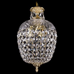 Подвесной светильник Bohemia Ivele CrystalС 1 плафоном<br>Артикул - BI_1677_25_G,Бренд - Bohemia Ivele Crystal (Чехия),Коллекция - 1677,Гарантия, месяцы - 24,Высота, мм - 410,Диаметр, мм - 250,Размер упаковки, мм - 250x180x200,Тип лампы - компактная люминесцентная [КЛЛ] ИЛИнакаливания ИЛИсветодиодная [LED],Общее кол-во ламп - 4,Напряжение питания лампы, В - 220,Максимальная мощность лампы, Вт - 40,Лампы в комплекте - отсутствуют,Цвет плафонов и подвесок - неокрашенный,Тип поверхности плафонов - прозрачный,Материал плафонов и подвесок - стекло, хрусталь,Цвет арматуры - золото,Тип поверхности арматуры - глянцевый, рельефный,Материал арматуры - латунь, стекло,Возможность подлючения диммера - можно, если установить лампу накаливания,Тип цоколя лампы - E14,Класс электробезопасности - I,Общая мощность, Вт - 160,Степень пылевлагозащиты, IP - 20,Диапазон рабочих температур - комнатная температура,Дополнительные параметры - способ крепления светильника к потолку - на крюке, указана высота светильника без подвеса<br>