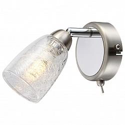 Бра GloboС 1 лампой<br>Артикул - GB_56023-1,Бренд - Globo (Австрия),Коллекция - Crash,Гарантия, месяцы - 24,Высота, мм - 145,Размер упаковки, мм - 130x110x115,Тип лампы - светодиодная [LED],Общее кол-во ламп - 1,Напряжение питания лампы, В - 220,Максимальная мощность лампы, Вт - 3,Лампы в комплекте - светодиодная [LED] G9,Цвет плафонов и подвесок - неокрашенный,Тип поверхности плафонов - прозрачный,Материал плафонов и подвесок - стекло,Цвет арматуры - никель, хром,Тип поверхности арматуры - глянцевый, сатин,Материал арматуры - металл,Форма и тип колбы - пальчиковая,Тип цоколя лампы - G9,Класс электробезопасности - I,Степень пылевлагозащиты, IP - 20,Диапазон рабочих температур - комнатная температура,Дополнительные параметры - способ крепления светильника к стене – на монтажной пластине, светильник предназначен для использования со скрытой проводкой, поворотный светильник<br>