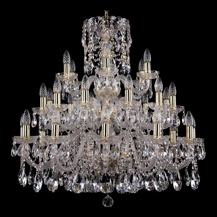Подвесная люстра Bohemia Ivele CrystalБолее 6 ламп<br>Артикул - BI_1412_12_12_6_300_G,Бренд - Bohemia Ivele Crystal (Чехия),Коллекция - 1412,Гарантия, месяцы - 24,Высота, мм - 790,Диаметр, мм - 900,Размер упаковки, мм - 710x710x350,Тип лампы - компактная люминесцентная [КЛЛ] ИЛИнакаливания ИЛИсветодиодная [LED],Общее кол-во ламп - 30,Напряжение питания лампы, В - 220,Максимальная мощность лампы, Вт - 40,Лампы в комплекте - отсутствуют,Цвет плафонов и подвесок - неокрашенный,Тип поверхности плафонов - прозрачный,Материал плафонов и подвесок - хрусталь,Цвет арматуры - золото, неокрашенный,Тип поверхности арматуры - глянцевый, прозрачный, рельефный,Материал арматуры - металл, стекло,Возможность подлючения диммера - можно, если установить лампу накаливания,Форма и тип колбы - свеча ИЛИ свеча на ветру,Тип цоколя лампы - E14,Класс электробезопасности - I,Общая мощность, Вт - 1200,Степень пылевлагозащиты, IP - 20,Диапазон рабочих температур - комнатная температура,Дополнительные параметры - способ крепления светильника к потолку - на крюке, указана высота светильника без подвеса<br>