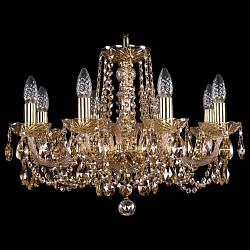 Подвесная люстра Bohemia Ivele CrystalБолее 6 ламп<br>Артикул - BI_1402_8_195_G_M721,Бренд - Bohemia Ivele Crystal (Чехия),Коллекция - 1402,Гарантия, месяцы - 24,Высота, мм - 400,Диаметр, мм - 570,Размер упаковки, мм - 450x450x200,Тип лампы - компактная люминесцентная [КЛЛ] ИЛИнакаливания ИЛИсветодиодная [LED],Общее кол-во ламп - 8,Напряжение питания лампы, В - 220,Максимальная мощность лампы, Вт - 40,Лампы в комплекте - отсутствуют,Цвет плафонов и подвесок - коньячный,Тип поверхности плафонов - прозрачный,Материал плафонов и подвесок - хрусталь,Цвет арматуры - золото, коньячный,Тип поверхности арматуры - глянцевый, прозрачный, рельефный,Материал арматуры - металл, стекло,Возможность подлючения диммера - можно, если установить лампу накаливания,Форма и тип колбы - свеча ИЛИ свеча на ветру,Тип цоколя лампы - E14,Класс электробезопасности - I,Общая мощность, Вт - 320,Степень пылевлагозащиты, IP - 20,Диапазон рабочих температур - комнатная температура,Дополнительные параметры - способ крепления светильника к потолку - на крюке, указана высота светильника без подвеса<br>