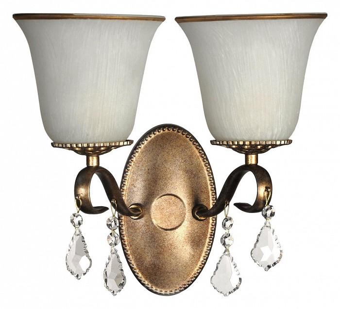 Бра Arti LampadariНастенные светильники<br>Артикул - AL_Borgese_E_2.1.2.602_GB,Бренд - Arti Lampadari (Италия),Коллекция - Borgese,Гарантия, месяцы - 24,Ширина, мм - 310,Высота, мм - 300,Тип лампы - компактная люминесцентная [КЛЛ] ИЛИнакаливания ИЛИсветодиодная [LED],Общее кол-во ламп - 2,Напряжение питания лампы, В - 220,Максимальная мощность лампы, Вт - 60,Лампы в комплекте - отсутствуют,Цвет плафонов и подвесок - белый с золотой каймой, неокрашенный,Тип поверхности плафонов - матовый, прозрачный,Материал плафонов и подвесок - стекло, хрусталь,Цвет арматуры - золото с чернением,Тип поверхности арматуры - матовый,Материал арматуры - металл,Количество плафонов - 2,Возможность подлючения диммера - можно, если установить лампу накаливания,Тип цоколя лампы - E27,Класс электробезопасности - I,Общая мощность, Вт - 120,Степень пылевлагозащиты, IP - 20,Диапазон рабочих температур - комнатная температура,Дополнительные параметры - способ крепления светильника на стене – на монтажной пластине, светильник предназначен для использования со скрытой проводкой<br>