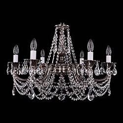 Подвесная люстра Bohemia Ivele Crystal5 или 6 ламп<br>Артикул - BI_1702_6_C_NB,Бренд - Bohemia Ivele Crystal (Чехия),Коллекция - 1702,Гарантия, месяцы - 12,Высота, мм - 550,Диаметр, мм - 700,Размер упаковки, мм - 510x510x200,Тип лампы - компактная люминесцентная [КЛЛ] ИЛИнакаливания ИЛИсветодиодная [LED],Общее кол-во ламп - 6,Напряжение питания лампы, В - 220,Максимальная мощность лампы, Вт - 40,Лампы в комплекте - отсутствуют,Цвет плафонов и подвесок - неокрашенный,Тип поверхности плафонов - прозрачный,Материал плафонов и подвесок - хрусталь,Цвет арматуры - никель черненый,Тип поверхности арматуры - глянцевый, рельефный,Материал арматуры - металл,Возможность подлючения диммера - можно, если установить лампу накаливания,Форма и тип колбы - свеча ИЛИ свеча на ветру,Тип цоколя лампы - E14,Класс электробезопасности - I,Общая мощность, Вт - 240,Степень пылевлагозащиты, IP - 20,Диапазон рабочих температур - комнатная температура,Дополнительные параметры - способ крепления светильника к потолку – на крюке<br>