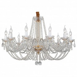 Подвесная люстра ST-LuceБолее 6 ламп<br>Артикул - SL639.203.12,Бренд - ST-Luce (Китай),Коллекция - Prima,Гарантия, месяцы - 24,Высота, мм - 1200,Размер упаковки, мм - 900x720x280,Тип лампы - компактная люминесцентная [КЛЛ] ИЛИнакаливания ИЛИсветодиодная [LED],Общее кол-во ламп - 12,Напряжение питания лампы, В - 220,Максимальная мощность лампы, Вт - 40,Лампы в комплекте - отсутствуют,Цвет плафонов и подвесок - неокрашенный,Тип поверхности плафонов - прозрачный,Материал плафонов и подвесок - хрусталь,Цвет арматуры - золото, неокрашенный,Тип поверхности арматуры - глянцевый, прозрачный,Материал арматуры - металл, стекло,Возможность подлючения диммера - можно, если установить лампу накаливания,Форма и тип колбы - свеча ИЛИ свеча на ветру,Тип цоколя лампы - E14,Класс электробезопасности - I,Общая мощность, Вт - 480,Степень пылевлагозащиты, IP - 20,Диапазон рабочих температур - комнатная температура,Дополнительные параметры - способ крепления светильника к потолоку - на крюке, регулируется по высоте<br>