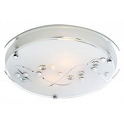 Накладной светильник GloboКруглые<br>Артикул - GB_48090-2,Бренд - Globo (Австрия),Коллекция - Ballerina I,Гарантия, месяцы - 24,Высота, мм - 85,Диаметр, мм - 320,Тип лампы - компактная люминесцентная [КЛЛ] ИЛИнакаливания ИЛИсветодиодная [LED],Общее кол-во ламп - 2,Напряжение питания лампы, В - 220,Максимальная мощность лампы, Вт - 60,Лампы в комплекте - отсутствуют,Цвет плафонов и подвесок - белый с неокрашенным рисунком,Тип поверхности плафонов - матовый, прозрачный,Материал плафонов и подвесок - стекло,Цвет арматуры - хром,Тип поверхности арматуры - глянцевый,Материал арматуры - металл,Возможность подлючения диммера - можно, если установить лампу накаливания,Тип цоколя лампы - E27,Класс электробезопасности - I,Общая мощность, Вт - 120,Степень пылевлагозащиты, IP - 20,Диапазон рабочих температур - комнатная температура<br>
